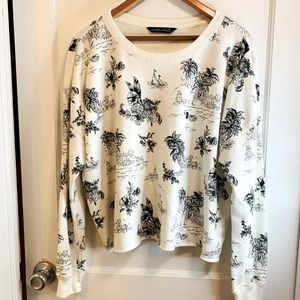 Abercrombie & Fitch crew patterned sweatshirt NWT